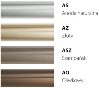 Kolory profili aluminiowych